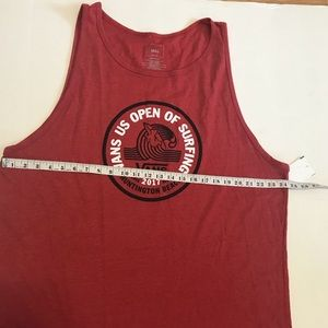 a16efaa5eb Vans Shirts - Van s Men s Red Tank Top Tee